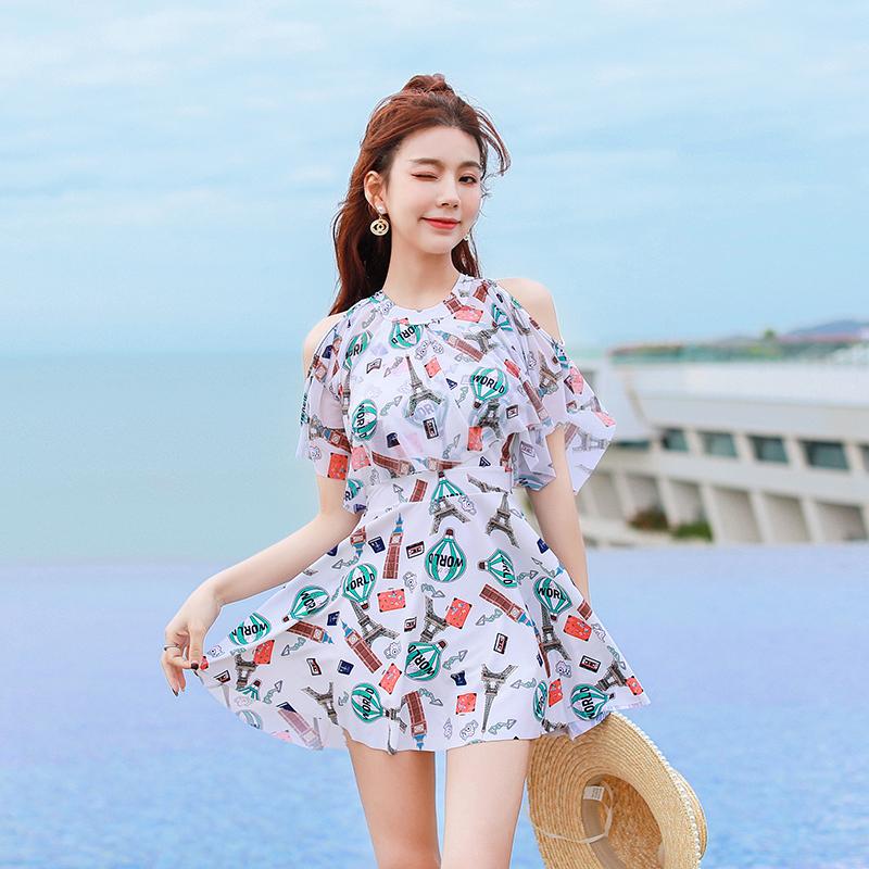 女士夏季遮肚显瘦连体泳衣