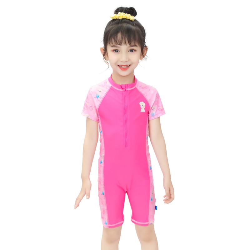 迪士尼冰雪奇缘连体女童泳衣