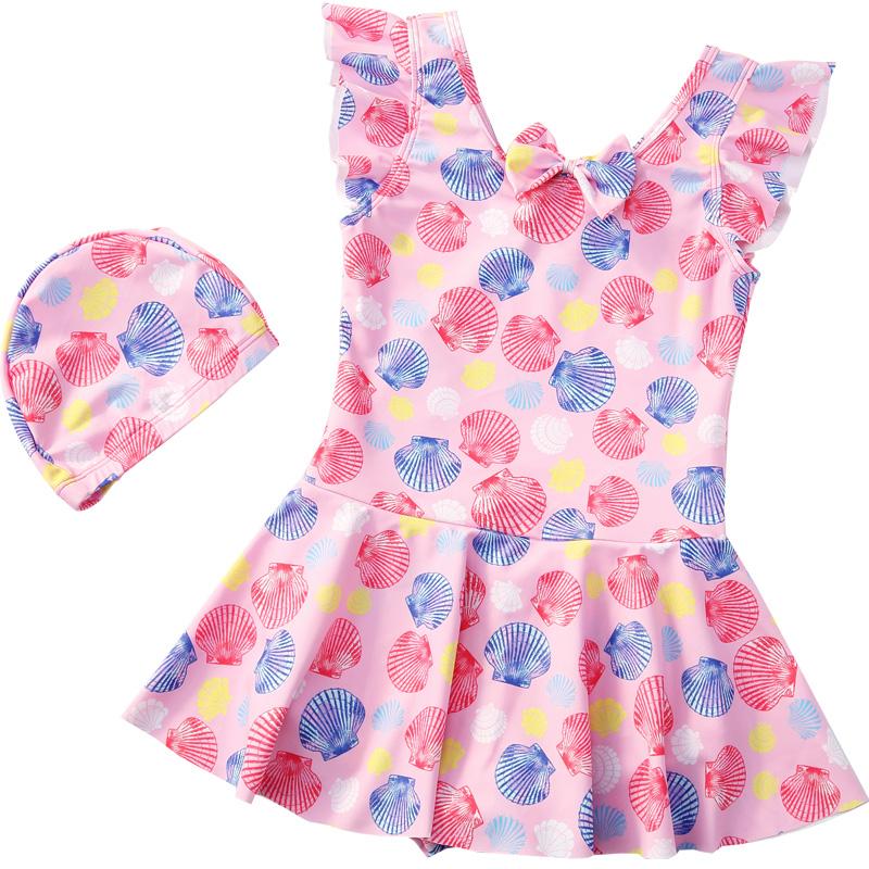 女童连体小公主裙式泳衣