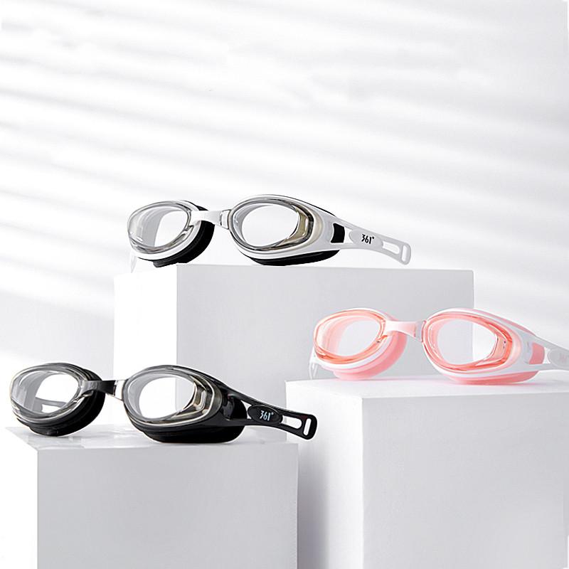 361男女电镀竞速近视游泳眼镜套装
