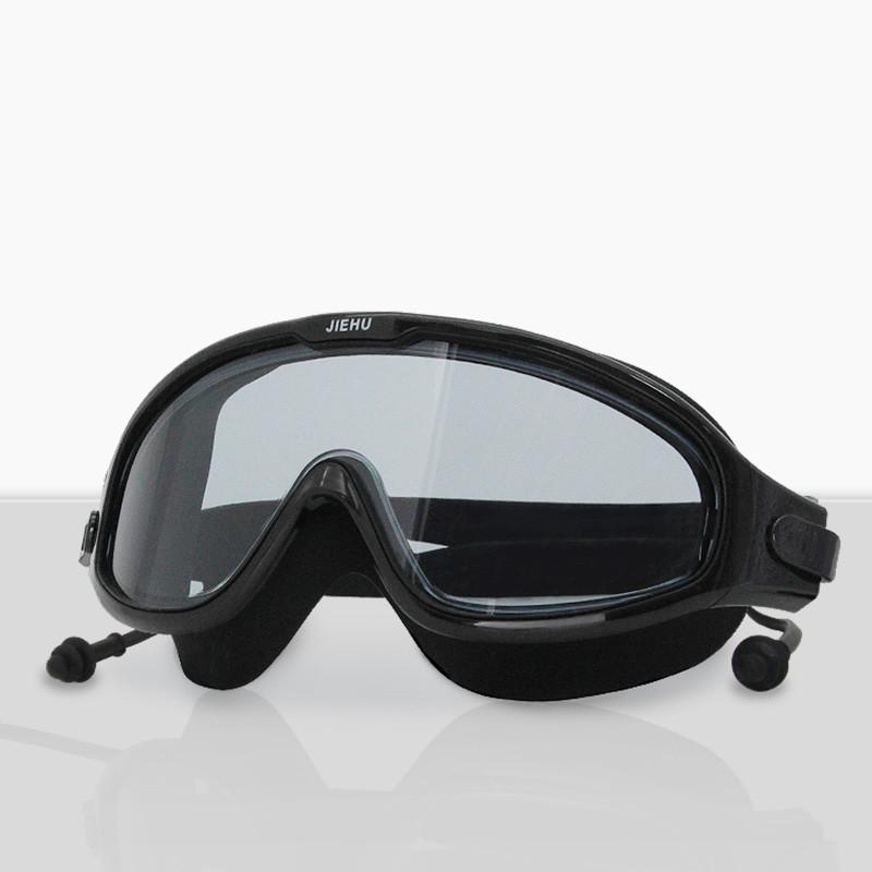儿童近视防水防雾高清大框游泳眼镜
