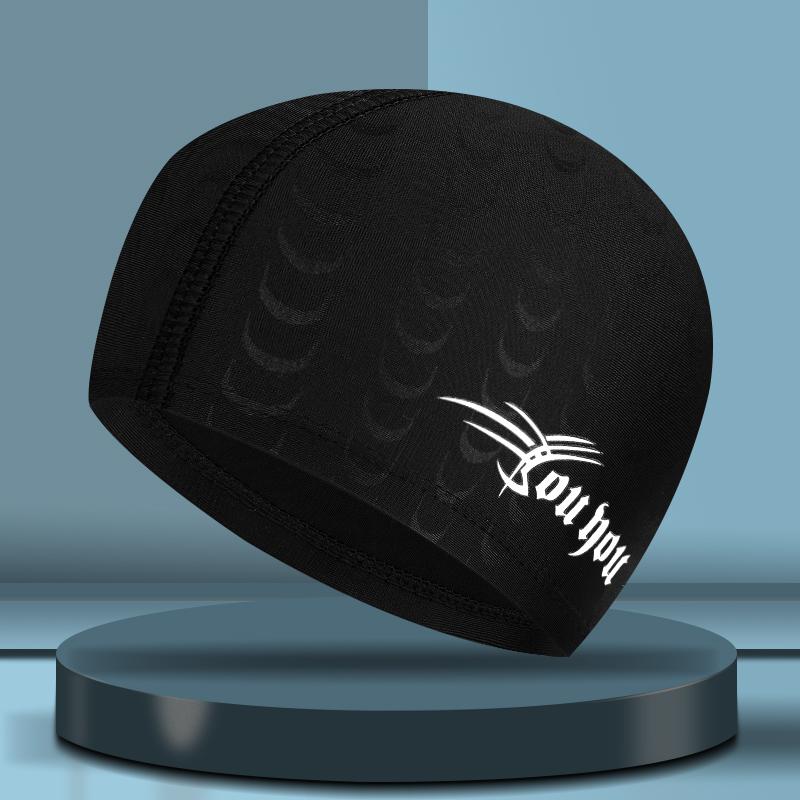 泳帽男防水游泳帽男士舒适不勒头布帽护耳帽成人温泉帽子游泳装备
