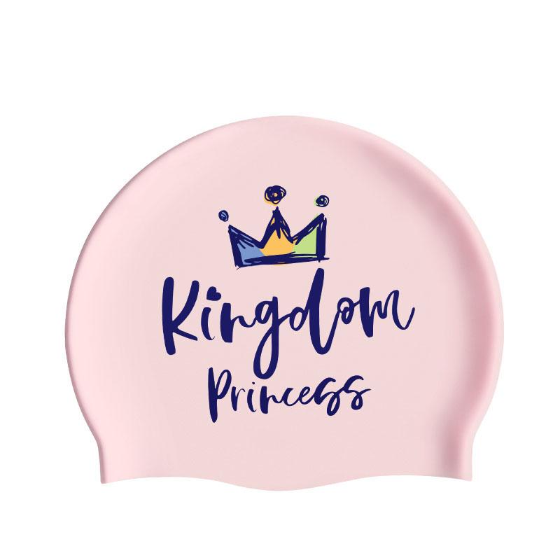 李宁甜美梦幻少女泳帽品质硅胶时尚舒适抗氯长发护耳防水印花泳帽