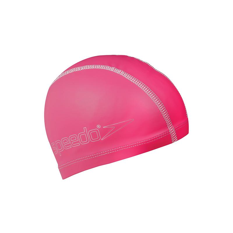 Speedo/速比涛 基础纯色 pu涂层 泳帽 儿童男女通用