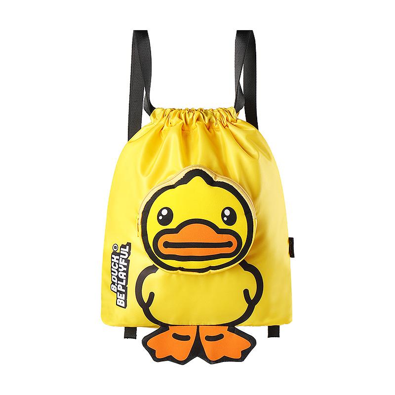 Bduck小黄鸭儿童游泳包双肩束口背包防水干湿分离包沙滩包收纳包
