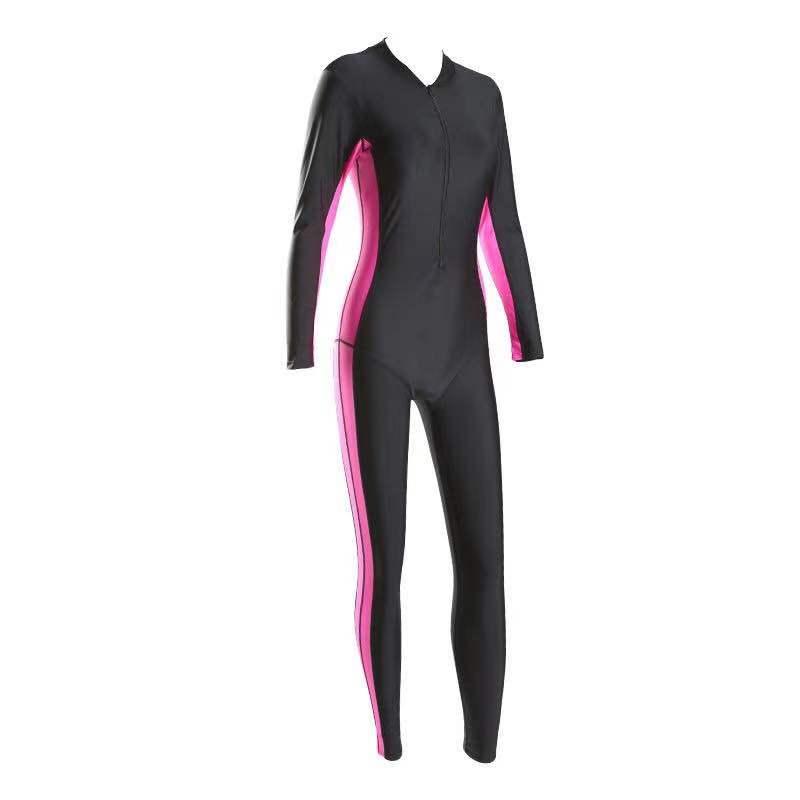 专业潜水服女运动防晒长袖长裤加肥大码连体温泉冲浪浮潜服泳衣女