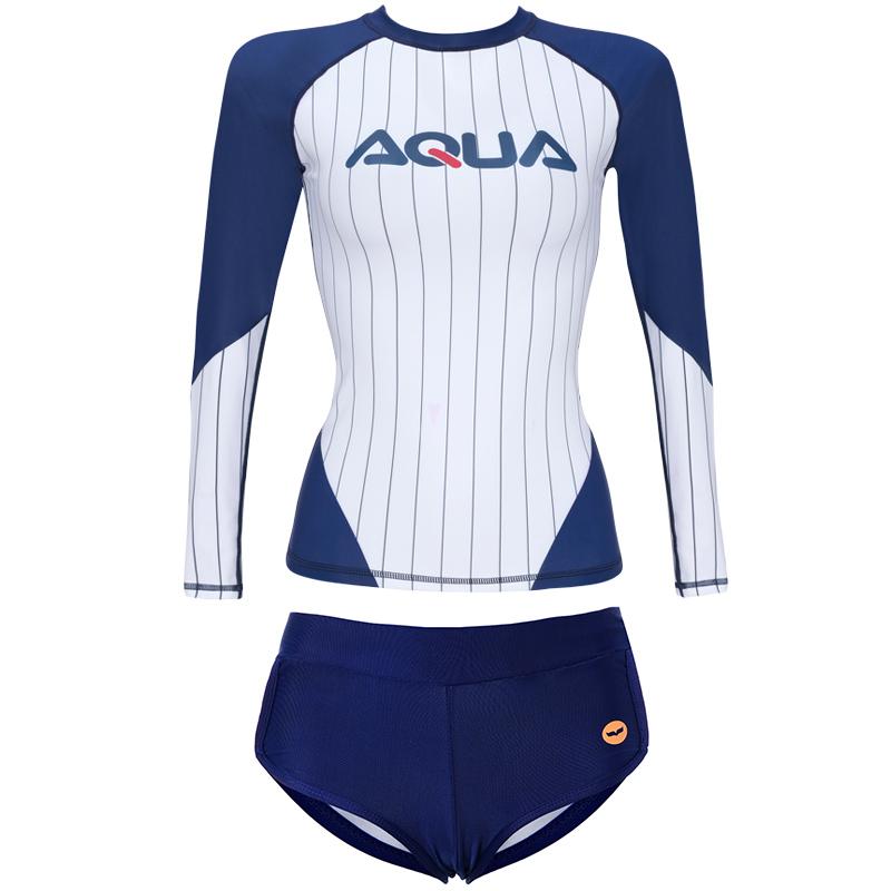 aquaplay潜水服女分体长袖泳衣防晒水母衣速干专业冲浪服套装