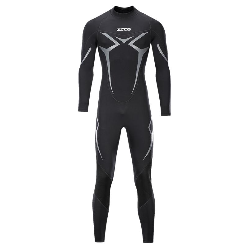ZCCO潜水服男3MM水母衣女专业浮潜加厚保暖泳衣女深潜连体湿衣