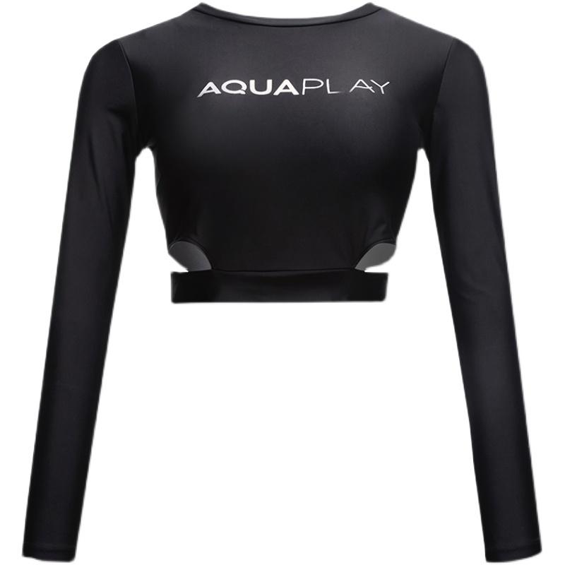 AquaPlay专业防晒冲浪服女2021年长袖游泳衣速干潜水服分体水母衣