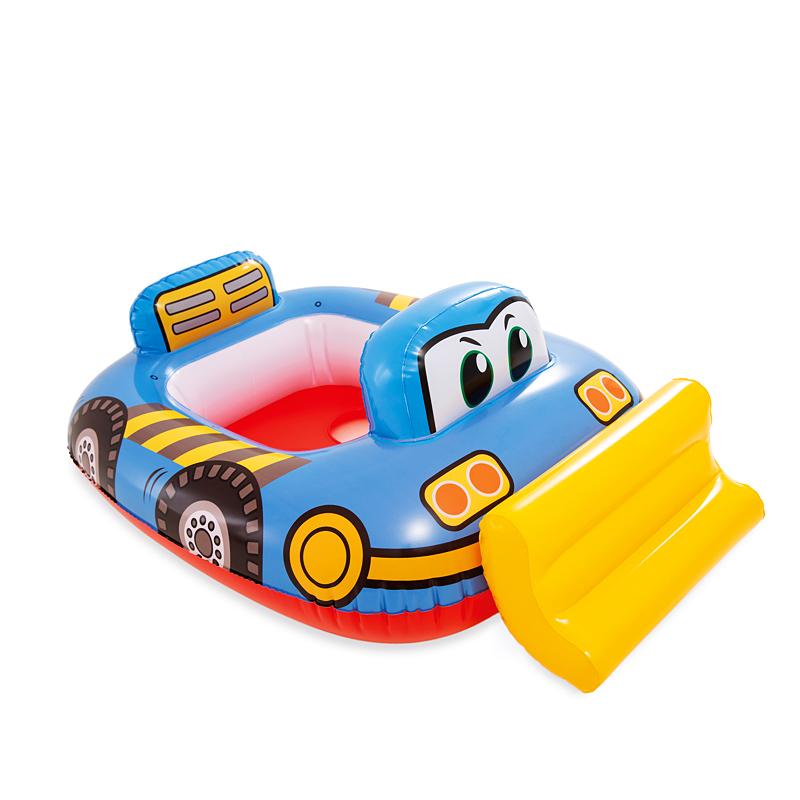 INTEX儿童游泳圈坐圈宝宝腋下圈男孩女孩游艇遮阳小孩救生1-3-6岁