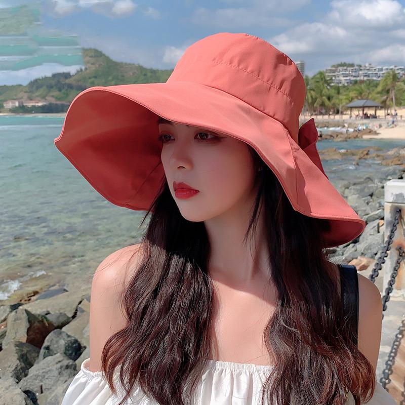 卡帝乐鳄鱼新款渔夫帽子夏天女春秋沙滩太阳帽遮阳防晒紫外线夏季